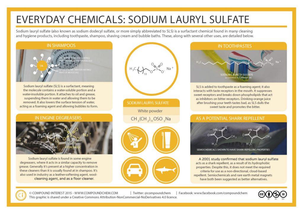 Infographic Everyday Chemicals - Sodium Lauryl Sulfate