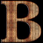letter B - wood